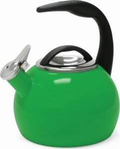 Chantal 2 Quart Emerald Green Anniversary Tea Kettle - Click to enlarge