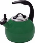 Chantal 2 Quart Emerald Green Robin Tea Kettle