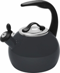 Chantal 2 Quart Onyx Black Robin Tea Kettle