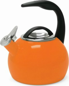Chantal 2 Quart Orange Anniversary Tea Kettle - Click to enlarge