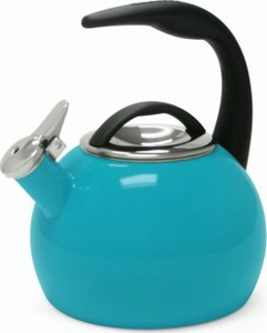 Chantal 2 Quart Sea Blue Anniversary Tea Kettle - Click to enlarge