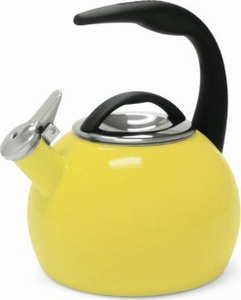 Chantal 2 Quart Yellow Anniversary Tea Kettle - Click to enlarge