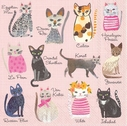 Cool Cats Paper Beverage Napkins