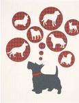 Cose Nuove Dogs Swedish Dish Cloth