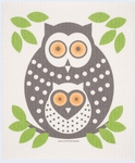 Cose Nuove Green Owl Swedish Dish Cloth