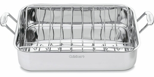 "Cuisinart 16"" Rectangular Roaster with Rack - Click to enlarge"