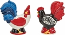 Damask Rooster Salt & Pepper Shakers