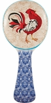 Damask Rooster Spoon Rest