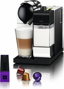 DeLonghi White Lattissima Plus Nespresso - Click to enlarge