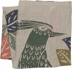 Flora & Fauna Linen Towel - Click to enlarge