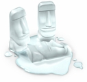 Fred Stone Cold Easter Island Ice Cube Tray