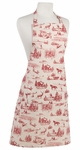 Holiday Toile Apron