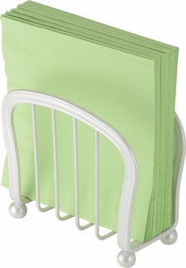 Interdesign York Lyra White Napkin Holder - Click to enlarge