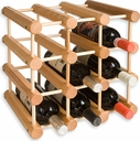 J.K. Adams 12 Bottle Natural Wood Wine Rack