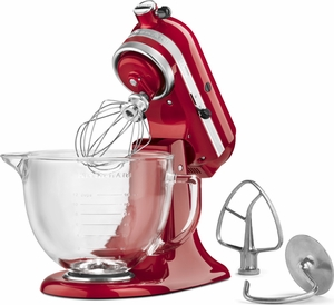 KitchenAid 5 Quart Designer Stand Mixer Candy Apple Red - Click to enlarge