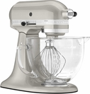 KitchenAid® 5 Quart Designer Stand Mixer Sugar Pearl Silver