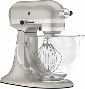 KitchenAid® 5 Quart Designer Stand Mixer Sugar Pearl Silver - Click to enlarge
