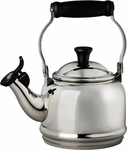 Le Creuset 1.25 Quart Demi Tea Kettle Stainless Steel