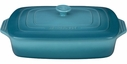 "Le Creuset 12"" x 9"" Rectangular Casserole with Lid Caribbean"