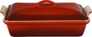 Le Creuset 4 Quart Rectangular Covered Casserole - Click to enlarge