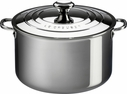 Le Creuset Stainless Steel 4 Quart Casserole with Lid