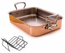 Mauviel M'Heritage M'150c Copper Roaster With Stainless Steel Handle