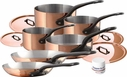 Mauviel M'Heritage M'250c 10 Piece Copper Set With Cast Iron Handle