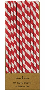 Meri Meri Red & White Party Straws - Click to enlarge