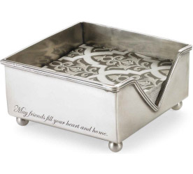 Mud Pie Pewter Napkin Holder - Click to enlarge