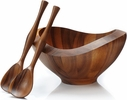 Nambe Bella Salad Bowl with Servers
