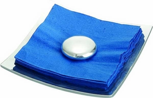 Nambe Stone Napkin Holder with Napkins - Click to enlarge
