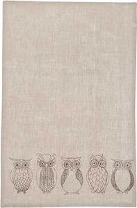 Night Owl Linen Towel - Click to enlarge