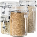 Oggi 4 Piece Acrylic Clamp Canister Set