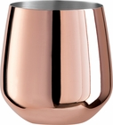 Oggi Set of 2 Copper Plated Stemless Wine Glasses