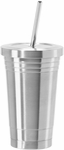 Oggi Stainless Steel Double Wall Tumbler with Stainless Steele Straw