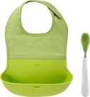 Oxo On-the-Go Green Bib & Spoon Set
