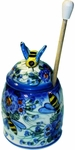 Polish Pottery Honey Pot