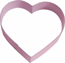 Polyresin Coated Cookie Cutter- Pink Heart