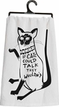 Primitives by Kathy Cats Could Talk Tea Towel