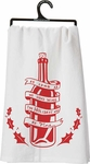Primitives by Kathy Have Wine Tea Towel