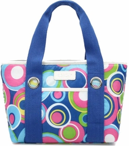 Sachi Blue Circle Lunch Tote - Click to enlarge