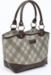Sachi Brown Plaid Lunch Tote