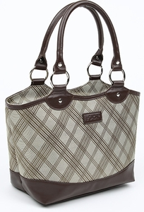 Sachi Brown Plaid Lunch Tote - Click to enlarge