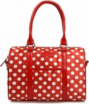 Sachi Red Polka Dot Lunch Tote