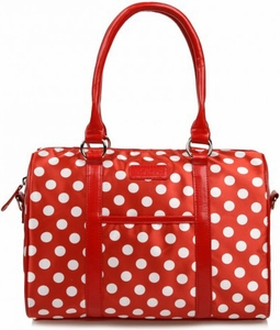 Sachi Red Polka Dot Lunch Tote - Click to enlarge