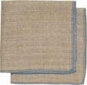 Set of 2 Blue Linen Dishcloths