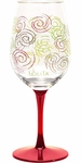 Set of 2 Holiday Swirl Wine Glasses