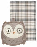 Set of 2 Owl Pocket Pals Kitchen Set