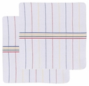 Set of 2 Primary Stripe Waffle Dish Cloths
