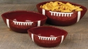 Set of 3 Touchdown Football Serving Bowls